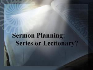 sermon planning
