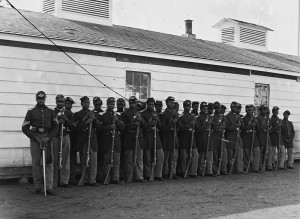 Company E, 4th US Colored Troops at Fort Lincoln
